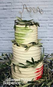 Italian Themed Rustic Cake