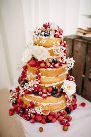 Naked Cake Layer Sponge Fruit Flower