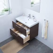 ikea godmorgon bathroom vanity black brown