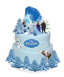 DISNEY FROZEN ELSA ANNA OLAF STANDS UP CAKE TOPPERS WAFER CARD