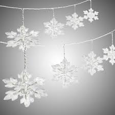 Icy Snowflakes String Lights Set of 2