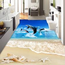comtemporary design jumping dolphins sea scenery pattern splicing