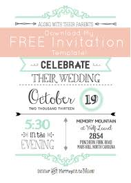Free Invitation Template Download