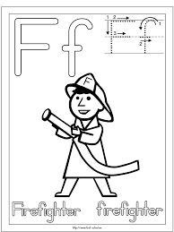Firefighter Coloring Page For F Week Letter Activities