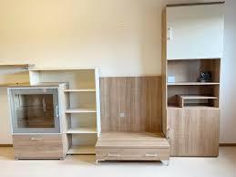 wohnwand wohnzimmer schrankwand holz modern