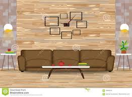 moderne innenarchitektur vektor illustration sofa vor