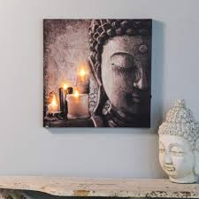 Amazoncom Winsome House Zen Buddha And Candles Print With LED