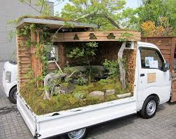 Landscaping In The Back Of Japanese Mini Pickup Trucks | Amusing Planet