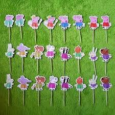 peppa wutz kuchen muffin dekoration kinder geburtstag 24 stück ebay