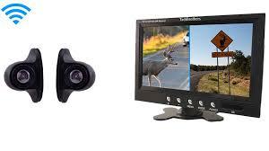 Wireless Mini Side View RV Backup Camera With Split Screen Monitor