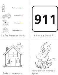 Fire Prevention Week Mini Book From TwistyNoodle