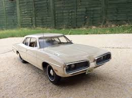 70 Dodge Coronet 4 door shopping car 1 old lady owner Scale