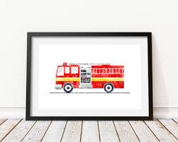 100 Fire Truck Wall Art Truck Wall Art Engine Print Truck Print Etsy