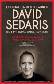 US BOOK LAUNCH THEFT BY FINDING DIARIES 1977 2002 By David Sedaris