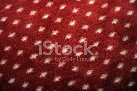 Red Carpet With White Dots