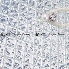 hp04 wavy silver foil glass mosaic kitchen backsplash tile hp04