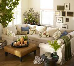 HomeOwnerBuff Green Home Decoration Spring Off White Sectional Sofa With Olive Decor