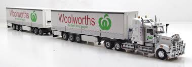 100 Mcilvaine Trucking Kenworth T908 Prime Mover With Dry Goods Trailers WOOLWORTHS 1