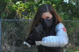 La s Captain America Winter Sol r Bucky Barnes Female Arm and