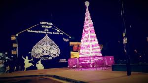 southall mural and pink tree philipss lights