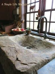 home decor rustic style rarely do i ever see an all stone sink
