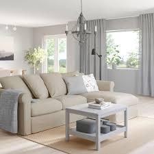 grönlid 3er sofa mit récamiere sporda naturfarben ikea