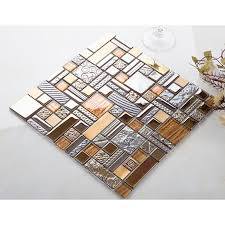 Copper Tiles For Backsplash by Glass Mosaic Kitchen Tile Copper Aluminum Tiles Wall Backsplash