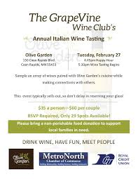 Olive Garden Wine Event 2018 Feb 27 2018 MetroNorth Chamber