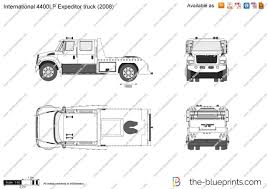 International 4400LP Expeditor Truck Vector Drawing