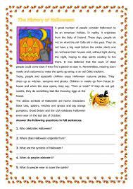 Halloween Brain Teasers by 201 Free Esl History Worksheets