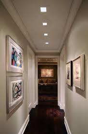 lighting idea for hallway plaster in recessed lighting