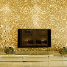 10M 3D Luxury Damask Embossed Texture Nonwoven Fabric Roll Wallpaper Background