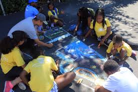 column five ny and bed stuy ymca turn c memories into chalk art