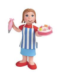 cake baking lady cake topper decoration 356 p