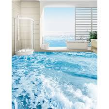 3d boden tapete kundenspezifische hd fototapete strand welle für boden bad selbstklebende pvc wasserdichte tapete 173