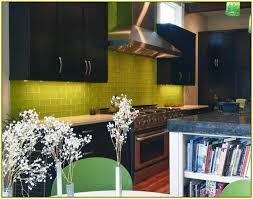lime green subway tile backsplash home design ideas