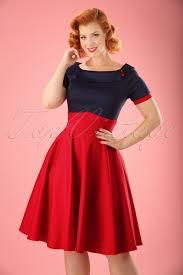 1940s 1950s sailor patriotic 4th of july dresses