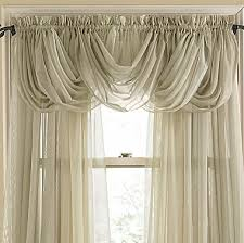 Jcpenney Sheer Curtain Rods by Lisette Rod Pocket Sheer Toga Valance Jcpenney Windows