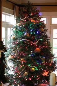White Tree With Lights Multicolored Or Gone Warm Christmas