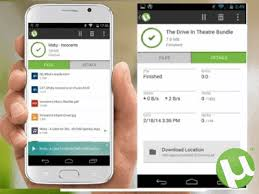 Use uTorrent apk for android