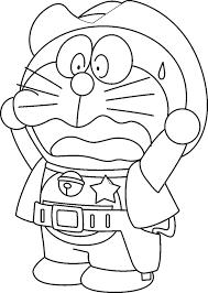 Shocking Doraemon Cartoon Coloring Pages