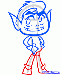 How To Draw Beast Boy From Teen Titans Go Step 5