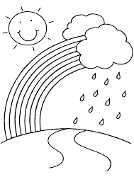 Free Printable Coloring Pages Rainbow