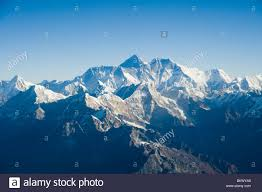 mountain ranges of himalayas aerial photograph of the himalaya mountain range with mount