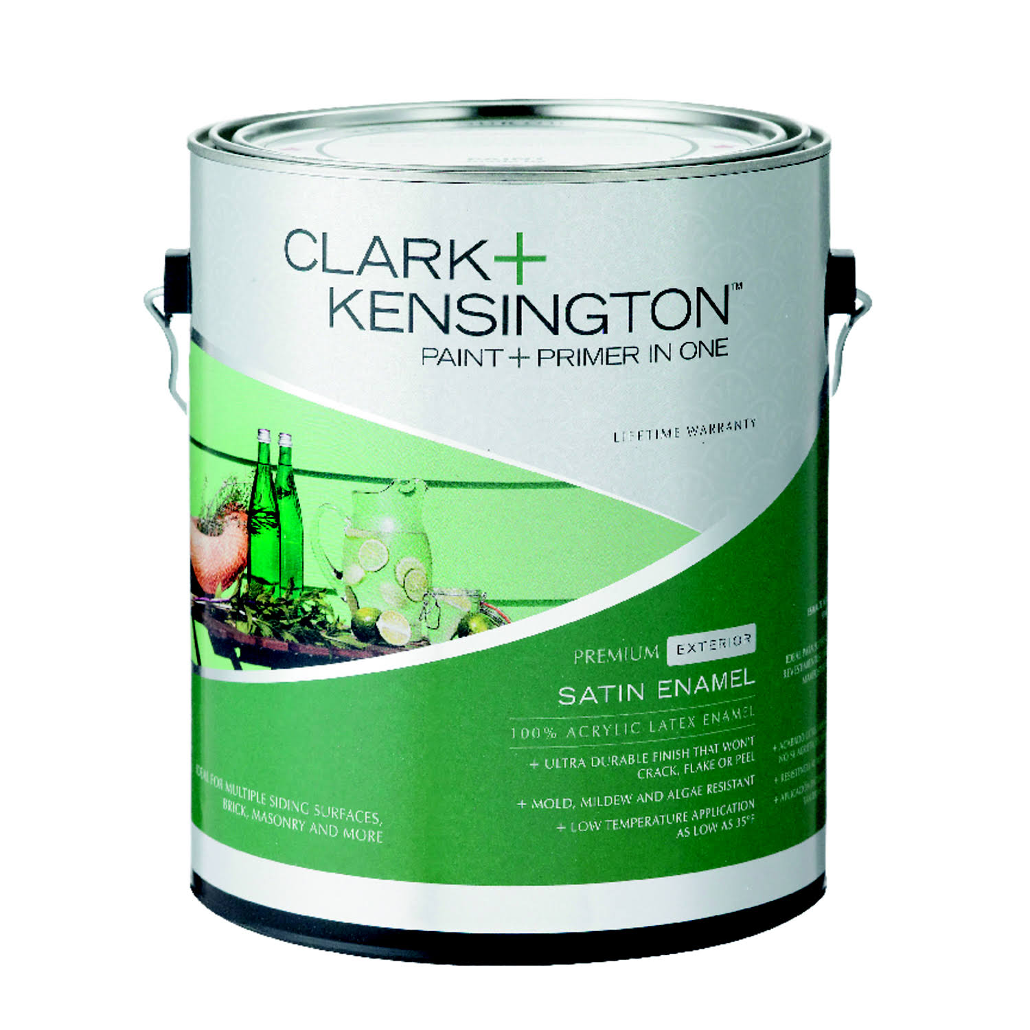 Clark+Kensington Satin Tintable Base Neutral Base Acrylic Latex House/Trim Paint 1 gal.