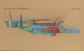 100 Frank Lloyd Wright Sketches For Sale FRANK LLOYD WRIGHT 18671959 A PRESENTATION DRAWING FOR