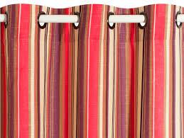 tissu pour rideaux à rayures en coton en mélodie