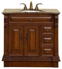 archer single sink bathroom vanity baltic brown granite top 38