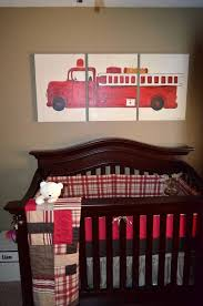 Baby Boy Firetruck Crib Set Inspirational Diy Painting And Bedding ...