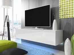 tv schrank lowboard hängeboard simple mit led blau weiß matt weiß hochglanz 160 cm